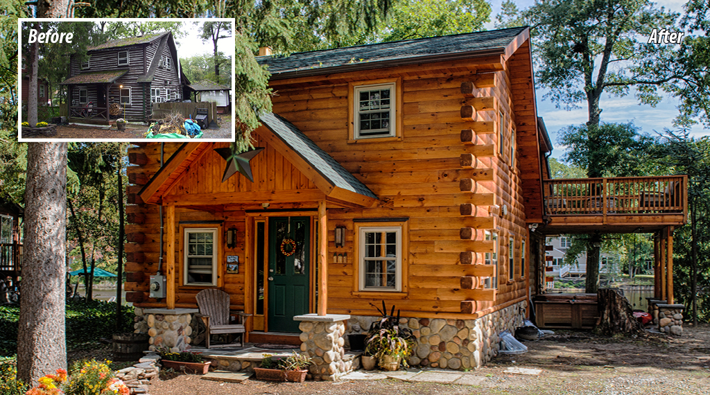 attractive log home addition #3: Renovation#2_9